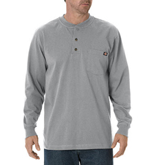 DKIWL451-HG-XL - DickiesMens Long Sleeve Heavyweight Henley Tee