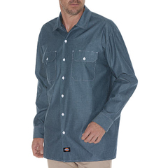 DKIWL509-BU-2T - DickiesMens Long Sleeve Chambray Shirts