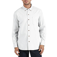 DKIWL624-RWH-L - DickiesMens Long Sleeve Cotton Twill Work Shirts