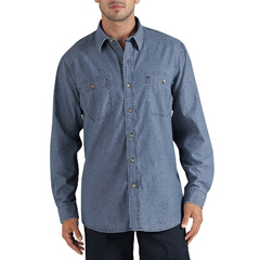 DKIWL626-RLIC-2X - DickiesMens Long Sleeve Relaxed-Fit Denim Shirts