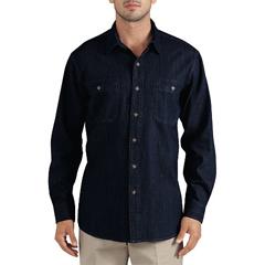 DKIWL628-RMWD-XL - DickiesMens Long Sleeve Denim Shirts