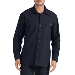 DKIWL633-DN-L - DickiesMens Long Sleeve Chamois Work Shirts