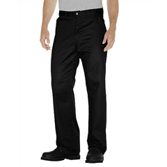 DKIWP314-BK-36-34 - DickiesMens Flat-Front Cotton Pant