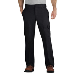 DKIWP595-BK-32-32 - DickiesMens Regular-Fit Mechanic Straight-Leg Cargo Pants