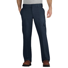 DKIWP595-DN-36-32 - DickiesMens Regular-Fit Mechanic Straight-Leg Cargo Pants