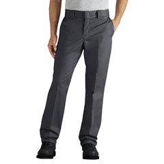 DKIWP833-CH-32-34 - DickiesMens Regular-Fit Tapered-Leg Ringspun Work Pants