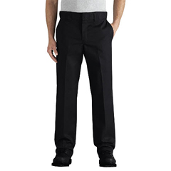 DKIWP838-BK-34-30 - DickiesMens Flex Slim-Fit Straight-Leg Twill Work Pants
