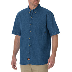 DKIWS300-SNB-XL - DickiesMens Denim Short Sleeve Shirts