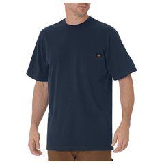 DKIWS450-DN-L - DickiesMens Short Sleeve Heavyweight Crew Neck Tee Shirts