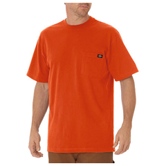 DKIWS450-OR-3X - DickiesMens Short Sleeve Heavyweight Crew Neck Tee Shirts