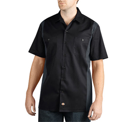DKIWS508-BKCH-4X - DickiesMens Short Sleeve Two-Tone Work Shirts