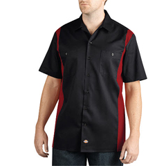 DKIWS508-BKER-3X - DickiesMens Short Sleeve Two-Tone Work Shirts