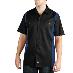 DKIWS508-BKRB-M - DickiesMens Short Sleeve Two-Tone Work Shirts