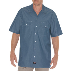 DKIWS509-BU-L - DickiesMens Short Sleeve Chambray Shirts