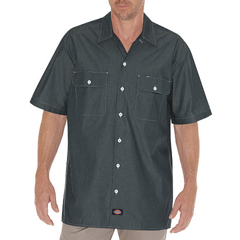 DKIWS509-NVC-M - DickiesMens Short Sleeve Chambray Shirts