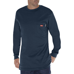 DKIDFL511-NV-M - Dickies FRMens Flame Resistant Long Sleeve Tee Shirt