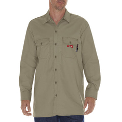DKIDFL574-KH-M - Dickies FRMens Flame Resistant Long Sleeve Twill Work Shirt