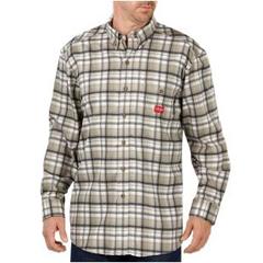 DKIRL310HEP-2X - Dickies FRMens Flame Resistant Long Sleeve Plaid Shirt