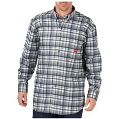 DKIRL310IHP-L - Dickies FRMens Flame Resistant Long Sleeve Plaid Shirt