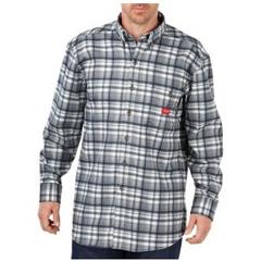DKIRL310IHP-S - Dickies FRMens Flame Resistant Long Sleeve Plaid Shirt