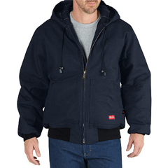 DKIRJ701-NV-L - Dickies FRFlame-Resistant Insulated Duck Jacket w/Hood