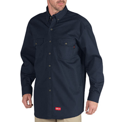 DKIRL301-NV-S - Dickies FRMens Flame Resistant Long Sleeve Twill Button-Down Shirt
