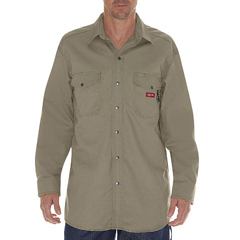 DKIRL302-KH-2X - Dickies FRMens Flame Resistant Twill Snap-Front Shirt