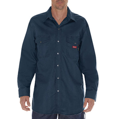 DKIRL302-NV-4X - Dickies FRMens Flame Resistant Twill Snap-Front Shirt
