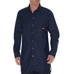 DKIRL303-NB-5X - Dickies FRMens Flame Resistant Long Sleeve Denim Snap-Front Shirt