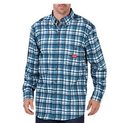 DKIRL310HHP-4X - Dickies FRMens Flame Resistant Long Sleeve Plaid Shirt