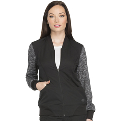 DKSDK340-BLK-L - Dickies - Dynamix® Womens Zip Front Warm-up Jacket