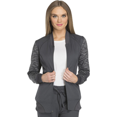 DKSDK340-PWT-XS - Dickies - Dynamix® Womens Zip Front Warm-up Jacket