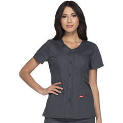 DKSDK605-PTWZ-M - Dickies - EDS Signature® Womens Button Front V-Neck Top