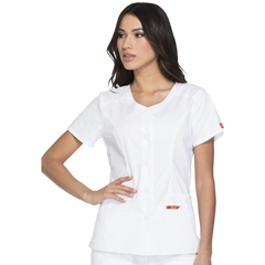 DKSDK605-WHWZ-L - Dickies - EDS Signature® Womens Button Front V-Neck Top