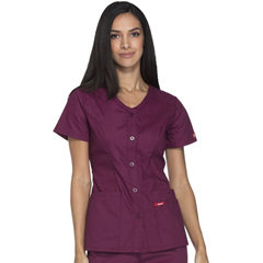 DKSDK605-WIWZ-M - Dickies - EDS Signature® Womens Button Front V-Neck Top