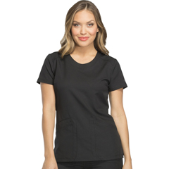DKSDK720-BLK-M - Dickies - Dynamix® Womens Rounded V-Neck Top