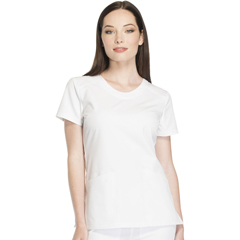 DKSDK720-WHT-L - Dickies - Dynamix® Womens Rounded V-Neck Top