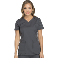 DKSDK730-PWT-XXS - Dickies - Dynamix® Womens V-Neck Top
