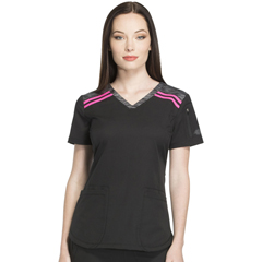 DKSDK740-BLK-L - Dickies - Dynamix® Womens V-Neck Top