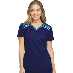 DKSDK740-NAV-L - Dickies - Dynamix® Womens V-Neck Top