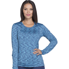 DKSDK920-NAV-S - Dickies - Dynamix® Womens Underscrub Long Sleeve Knit Tee