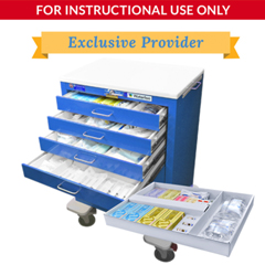 DMLLC027920 - SimLabSolutionsLoaded 5 Drawer Signature Emergency Crash Cart&Trade; For Simulation