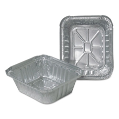 DPK220301000 - Aluminum Closeable Containers, 4 7/8w x 1 13/16d x 5 3/4h, Silver, 1000/Carton