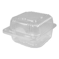 DPKPXT11600 - Durable Packaging Plastic Clear Hinged Containers, 500/CT