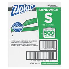 DRK94600 - Ziploc® Resealable Sandwich Bags