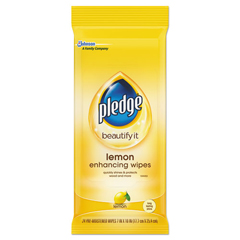 DRACB728072PK - Pledge® Lemon Scent Wet Wipes