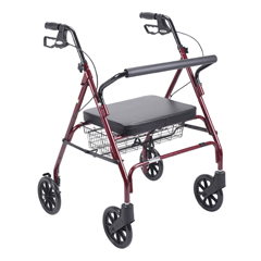 10215RD-1 - Drive MedicalHeavy Duty Bariatric Walker Rollator with Large Padded Seat