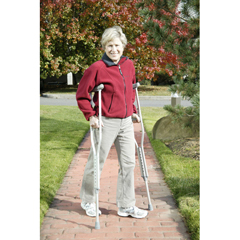 DRV10401-1 - Drive Medical - Walking Crutches with Underarm Pad and Handgrip, Youth, 1 Pair