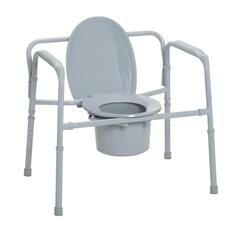 11117N-1 - Drive MedicalHeavy Duty Bariatric Folding Bedside Commode Seat