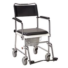 11120SV-1 - Drive MedicalPortable Upholstered Wheeled Drop Arm Bedside Commode